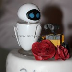 Robot Chemistry Wedding Cake