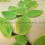 Wedding cake with beech leaves
