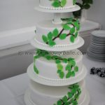 Wedding cake with beech leaves