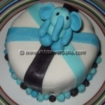 Birthday cake with elephant