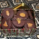 Chocolate Caramel Sandwich (Linzer?) Cookies